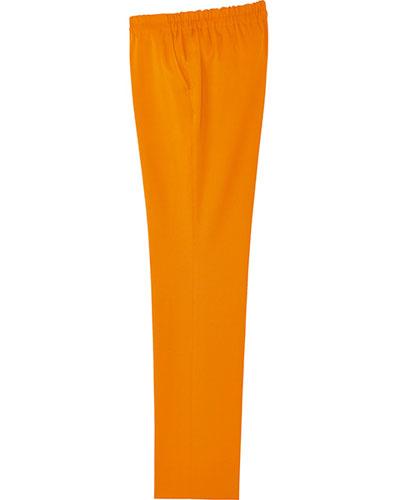 [ルコックスポルティフ] le coq sportif 【ウエスト総ゴムで楽々フィット】  男女兼用 ストレートパンツ UQM2022 (オレンジ)