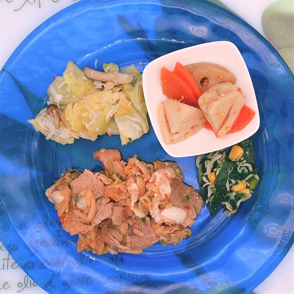 バランス健康食:豚肉とあさりのチゲ風セットF