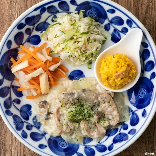 カロリー制限食:白身魚のクリーム煮セットB