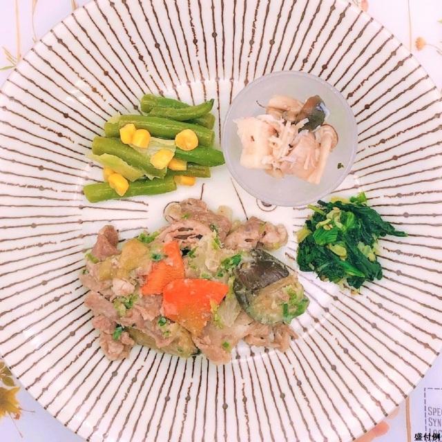 糖質制限食:牛肉と茄子の味噌炒めセットG
