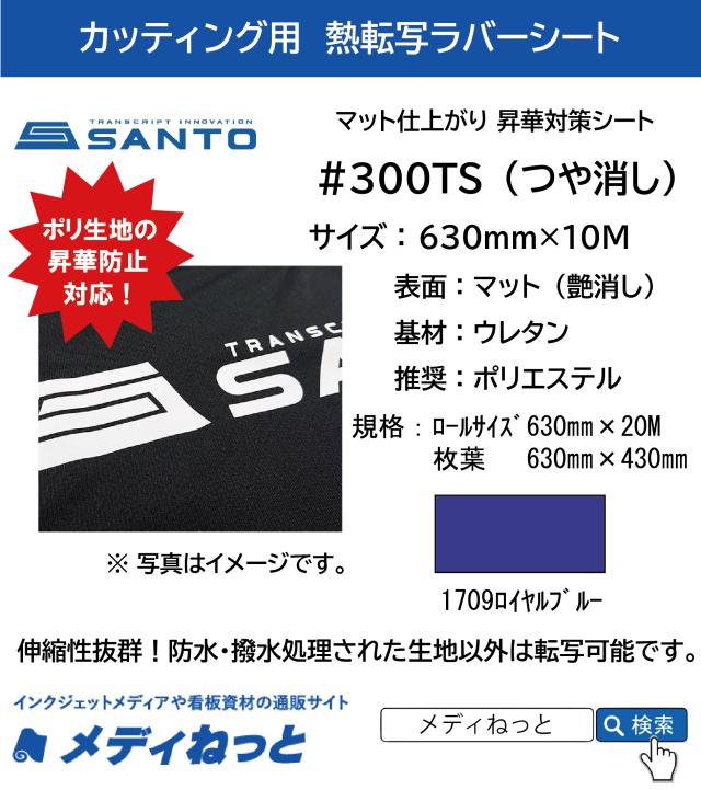 熱転写用ラバーシート #300TS 昇華防止対策 艶消しラバー 1709ロイヤルブルー 630mm×10M