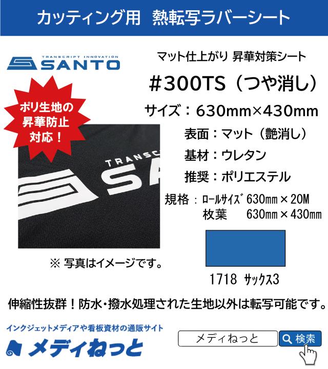 【枚葉サイズ】熱転写用ラバーシート #300TS 昇華防止対策 艶消しラバー 1718サックス3 630mm×430mm