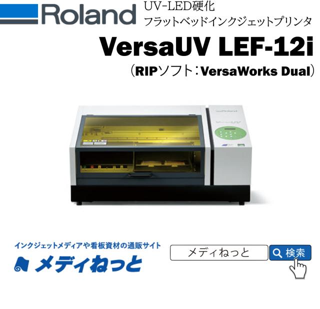 【UVフラットベッドプリンター】Roland D.G. VersaUV LEF-12i(RIPソフト:VersaWorks6) 最大印刷エリア:305mm×280mm