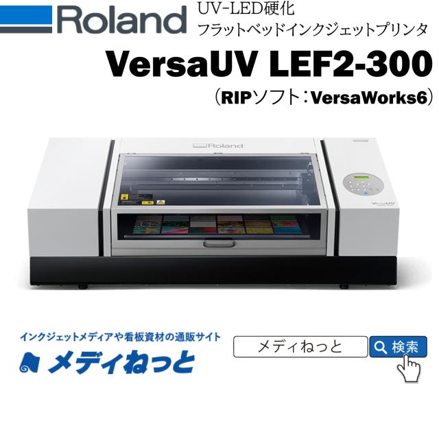 【UVフラットベッドプリンター】Roland D.G. VersaUV LEF2-300(RIPソフト:VersaWorks6) メディアサイズ:最大800×360×100(高さ)mm
