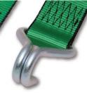 ラッシングベルト ラチェット式 ナローフック仕様 R5N17(固定側:1m/調節側:7m)