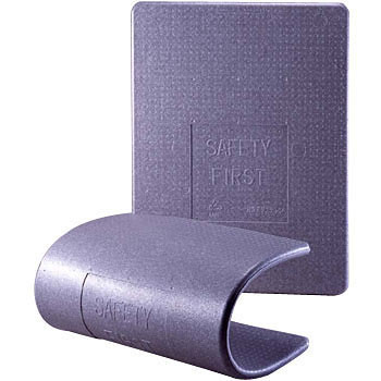 【10枚梱包】パレットスペーサー(パレット輸送用緩衝養生材) PS1230 ライトグレー 900×1,200 厚み:30mm
