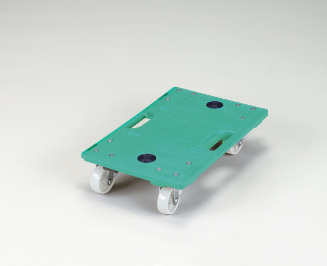 【4台セット】RBジョイントキャリー(5)グリーン 2.5インチ ナイロン車 自在×4 寸法:435x282x100