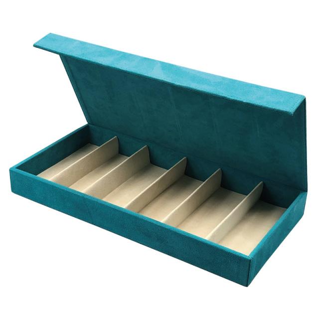 メガネをまとめて収納できるウルトラスエード素材のコレクションボックス「OPT-BOX-6 グレイス」