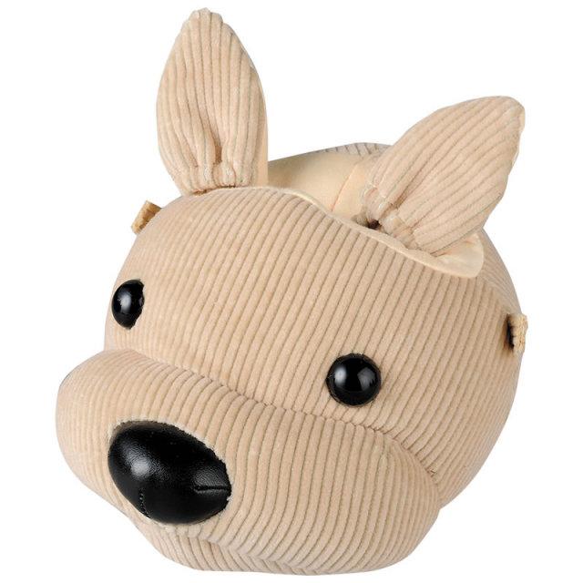 犬の顔をしたメガネスタンド(眼鏡スタンド)とメガネ拭き I-10 「アニマルふぇいすスタンド・コーデュロイ・イヌ」