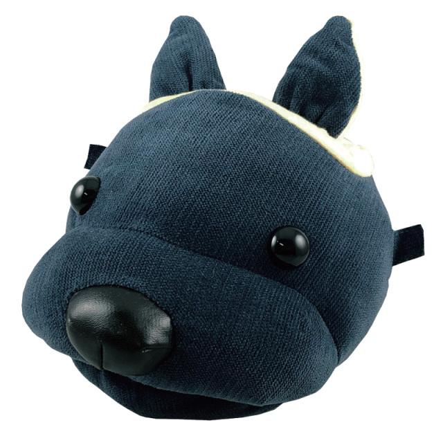 犬の顔をしたメガネスタンド(眼鏡スタンド)とメガネ拭き I-12 あにまるふぇいすスタンド・コーデュロイ・イヌ