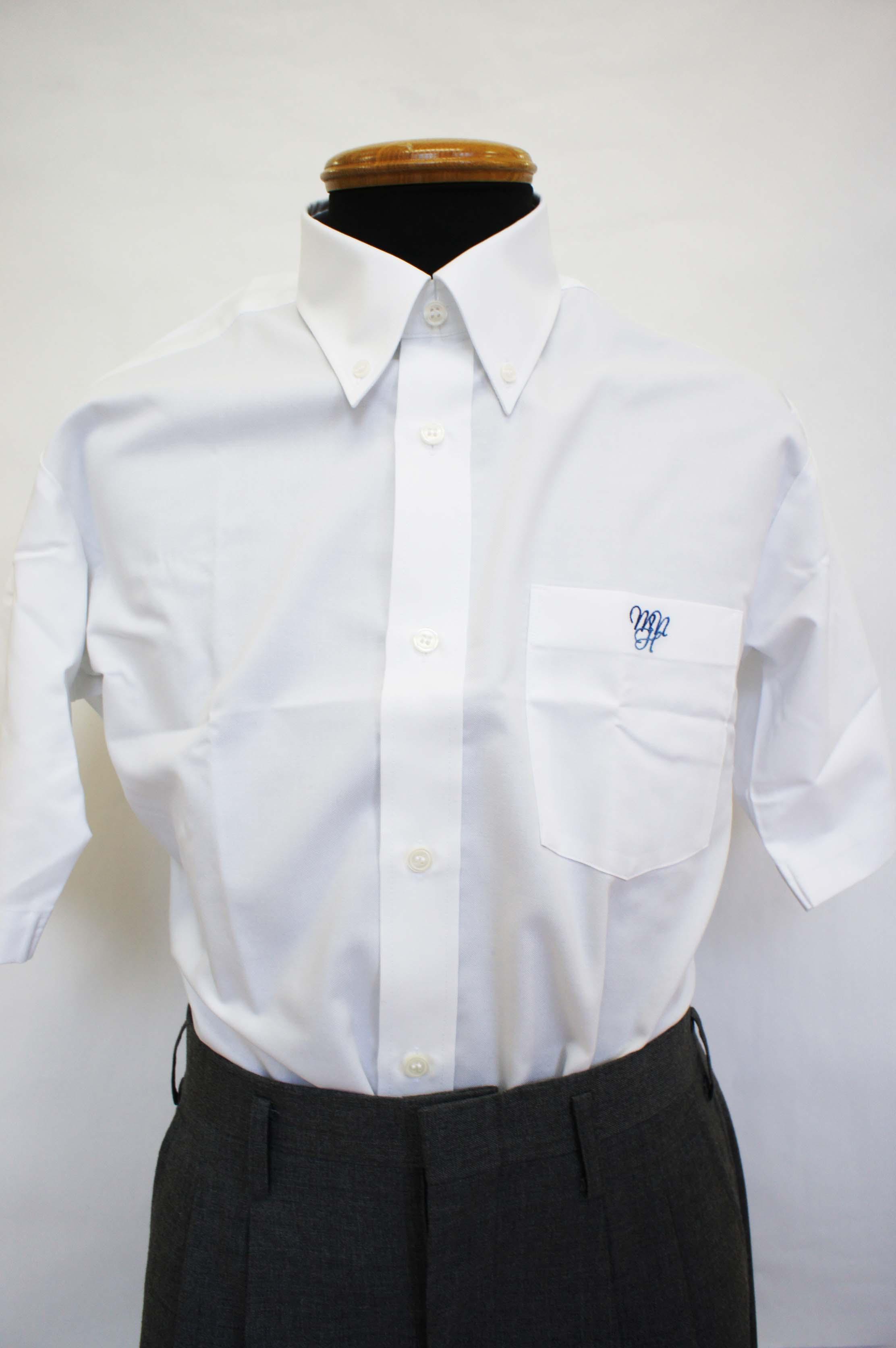 ●八 ボタンダウンシャツ(半袖) 3L