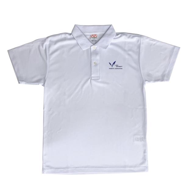 明治大学連合父母会 オフィシャル ポロシャツ 白 Lサイズ