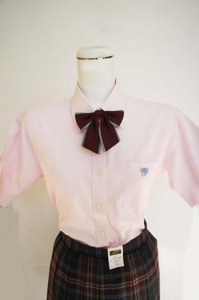 八 半袖ブラウス ピンク L