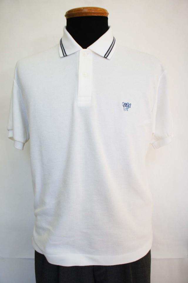 ●八 ポロシャツ(旧デザイン) 白 4L