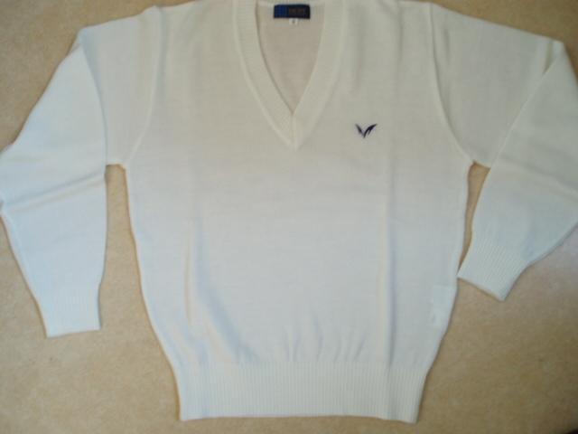 ●明 女子セーター 白4L