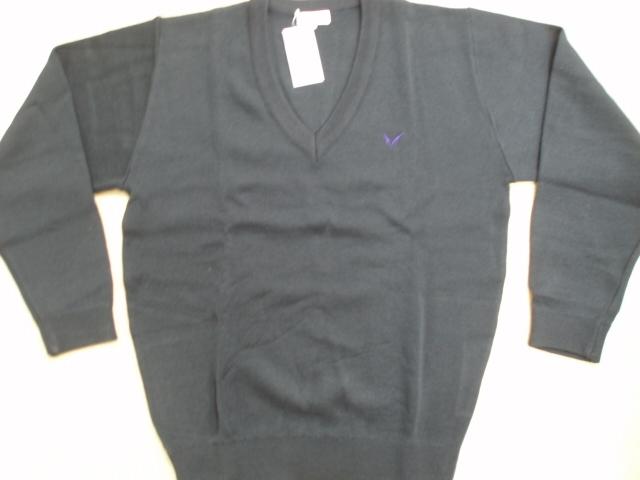 明 女子セーター厚手 紺3L