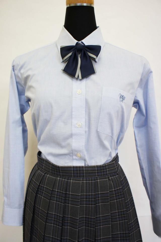 ●八 長袖ブラウス ブルー SS