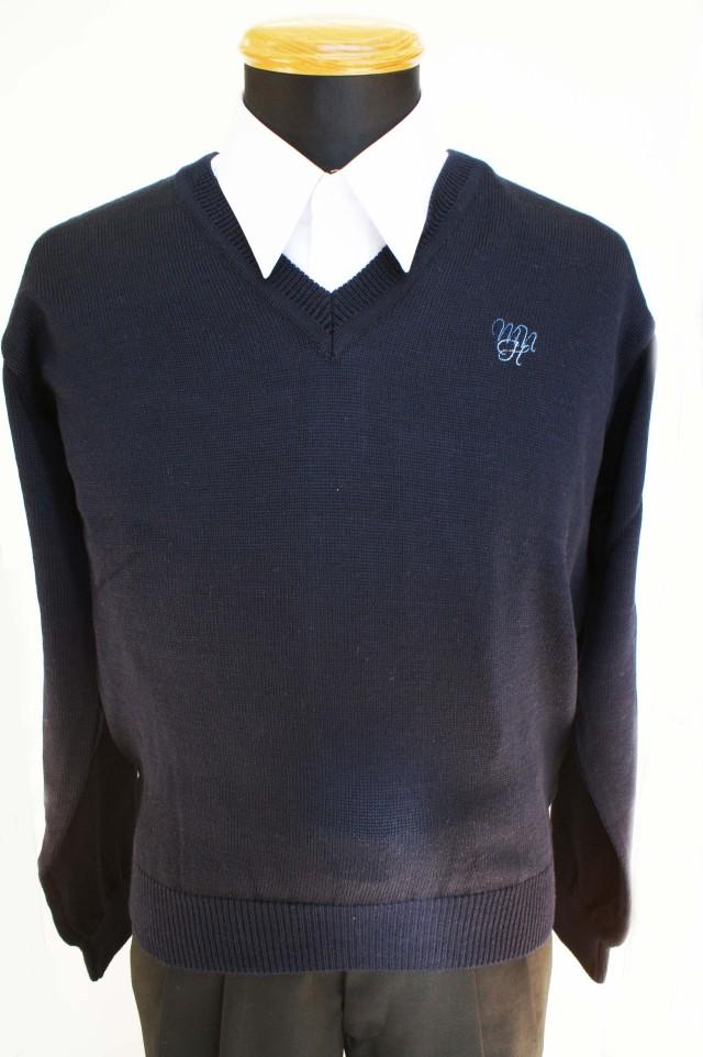 ●八 セーター 紺 4L