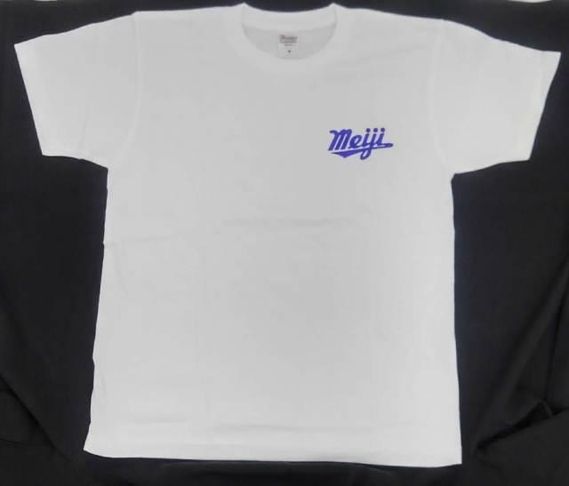 新・Tシャツ・meiji・ホワイト・XL
