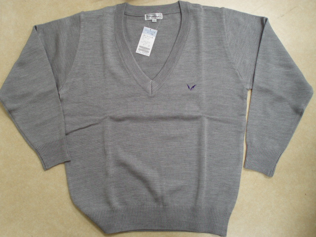 ●明 男子セーター グレー 3L