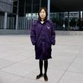 明大ベンチコート・新ロゴ・紫紺・ウィミンズ