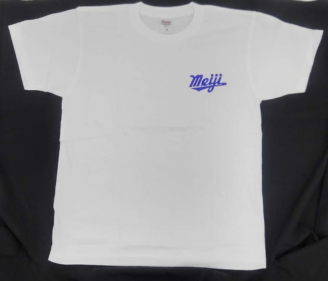 新・Tシャツ・meiji・ホワイト・M
