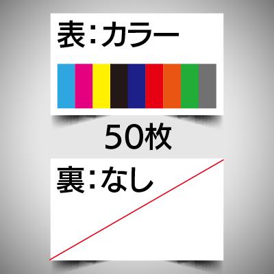 データ入稿名刺/片面カラー/50枚
