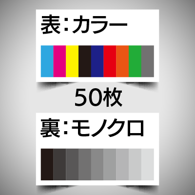 データ入稿名刺/表カラー裏モノクロ/50枚