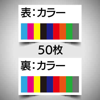 データ入稿名刺/両面カラー/50枚