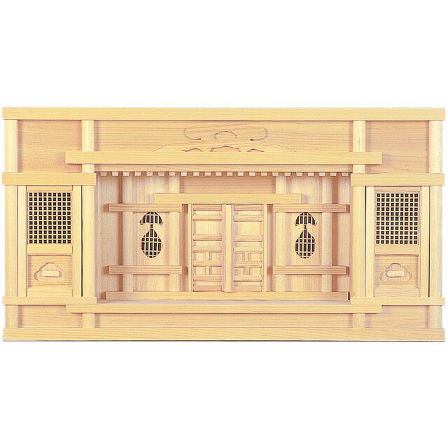 【全部揃ったピッタリサイズの神具一式セット付】1尺5寸【set2】・2尺【set2】[神棚] 東型箱宮