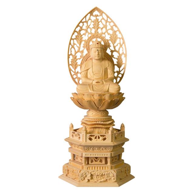 仏像 白木 座釈迦