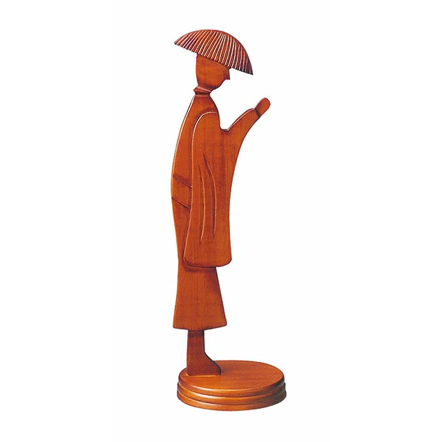 木製 合掌念珠掛 けやき色 僧侶