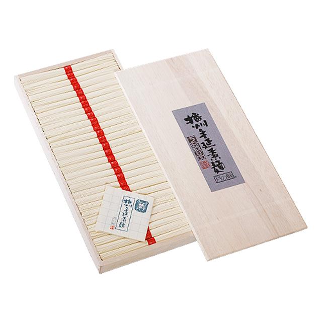 [T-37]播州手延そうめん[月の輪] 上級品【赤帯】 1.45kg(29束)化粧木箱