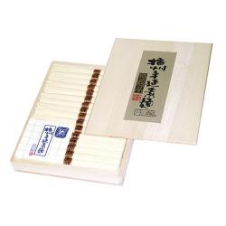 [Z-30]播州手延そうめん[月の輪] 特級品【金帯】 0.80kg(16束)化粧木箱