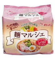 [tm-09]麺マルシェ・減塩しょうゆ味ラーメン 5食