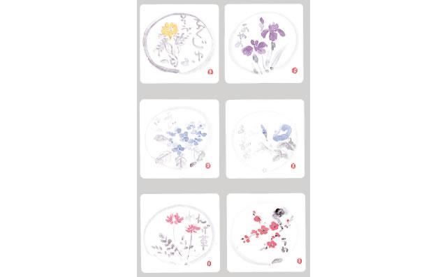 【ZD 角型・花】 コースター (100枚入)
