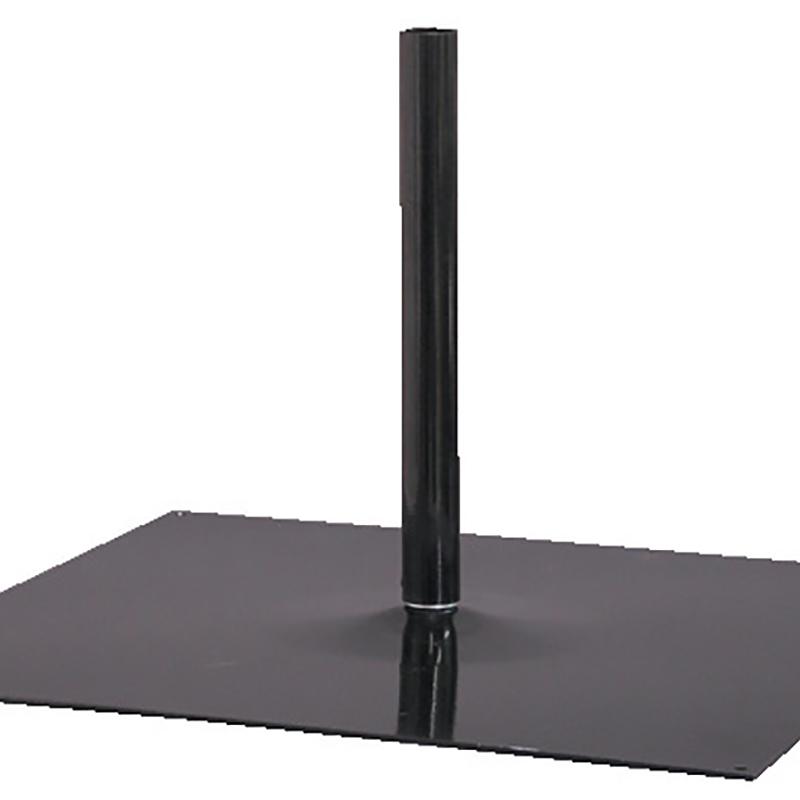 関連器具 941 鉄板ポール台 45cm黒