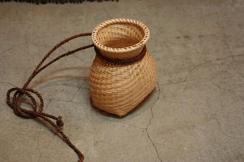 竹の飾りびくカゴ
