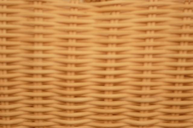 ラタン手付き角型バスケット
