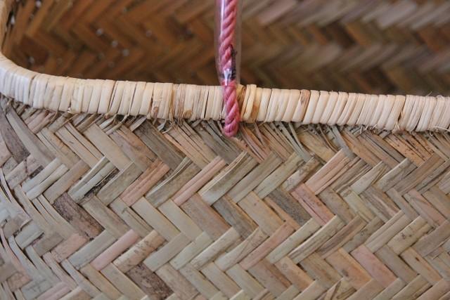 竹 パイプ手提げ 薄型