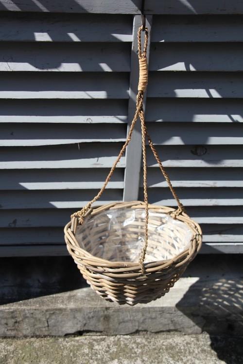 ラタン ハンギング鉢カバー