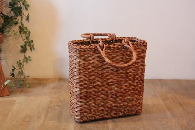あけび かごバッグ 立角小松編み