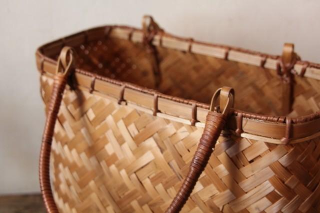 竹 かごバッグ