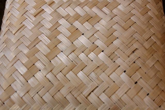 竹蓋付き 行李かご S L