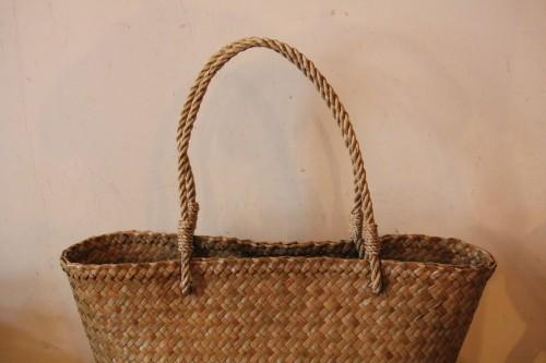 水草 横長かごバッグ
