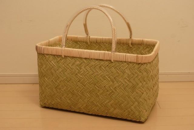 竹の市場かごLL