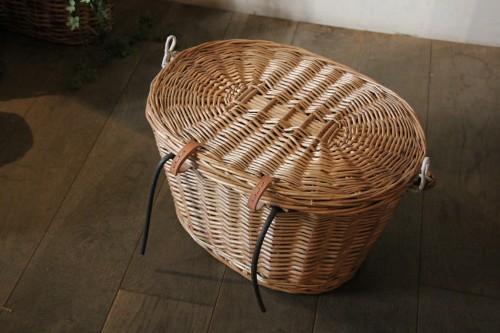 柳 自転車カゴ* 天然素材の自転車バスケット