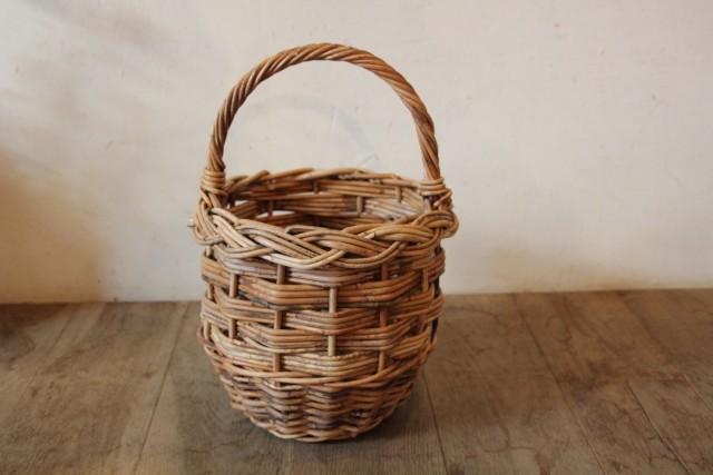 かごバッグ アラログ 丸三つ編み