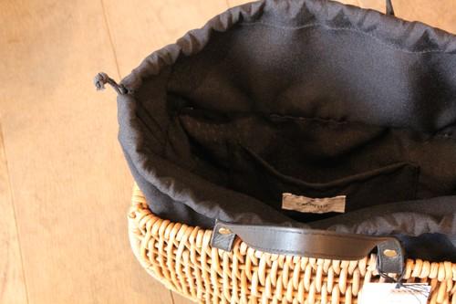 アラログの半月トートレザーハンドルかごバッグ