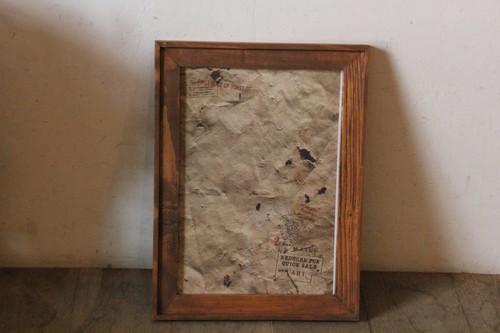 古材で作ったオールドパインウッドフレーム
